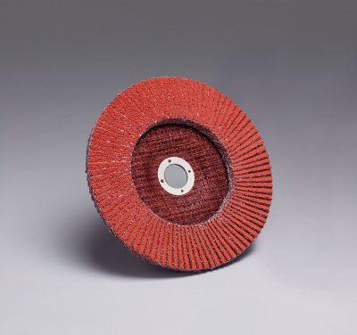3M™ Lamellenschijf 947D, conisch, rood, 125 mm, P60 67011