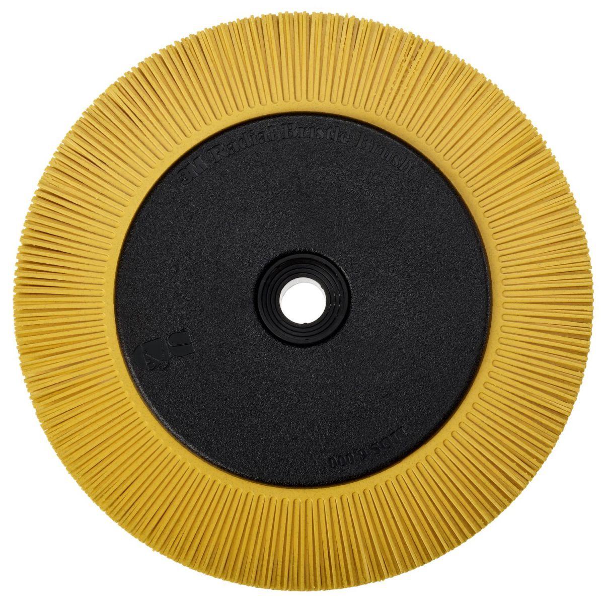 3m scotchbrite radial bristle borstel bbzb met adapter ts geel 203 mm x 25 mm x 32 mm p80