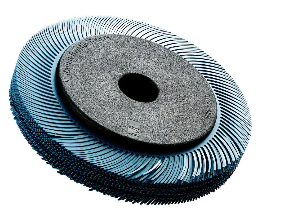 3m scotchbrite radial bristle borstel bbzb met adapter tc geel 194 mm x 25 mm x 32 mm p80