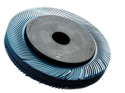 3M™ Scotch-Brite™ Radial Bristle Borstel BB-ZB met adapter, TC, geel, Ø 194 mm x 25 mm x 32 mm, P80, 33129