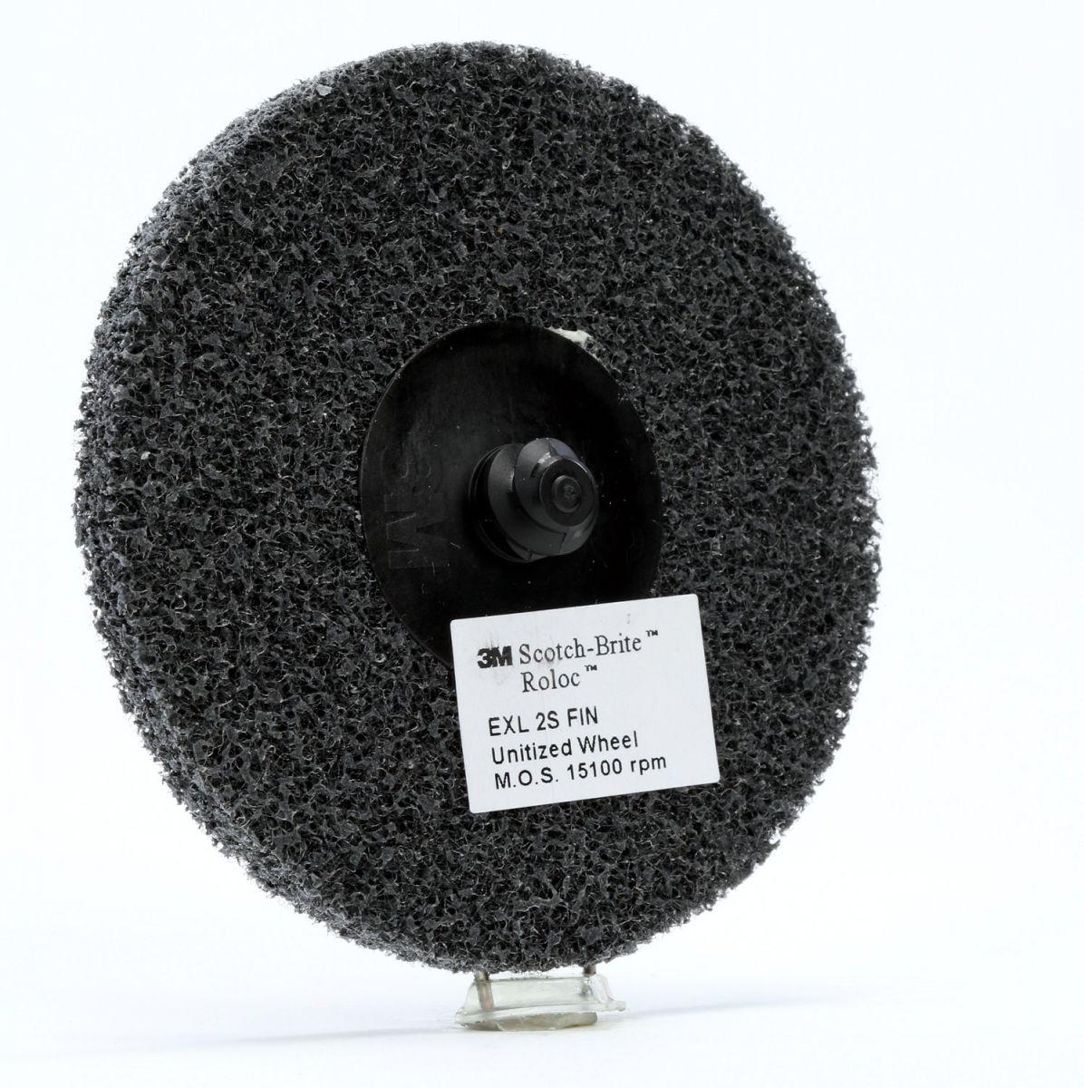 3m scotchbrite roloc exl unitised wiel xldr 76 mm x 6 mm 2s fin pn17184