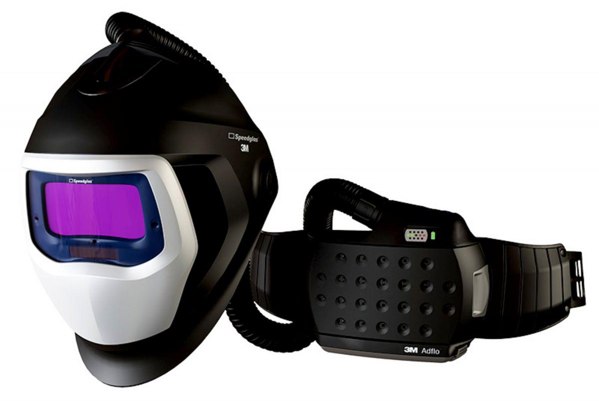 3m speedglas 9100 air laskap lasfilter x met adflo motorunit