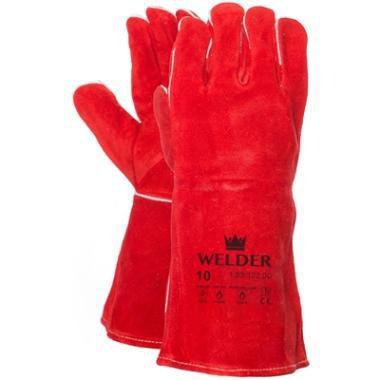 5-vinger lashandschoen cat.2 kleur rood 15312200
