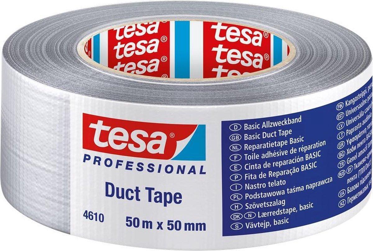 ductape tesa 4613 50x50 zilver grijs