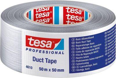 Ductape Tesa 4613 50x50 zilver grijs A476069