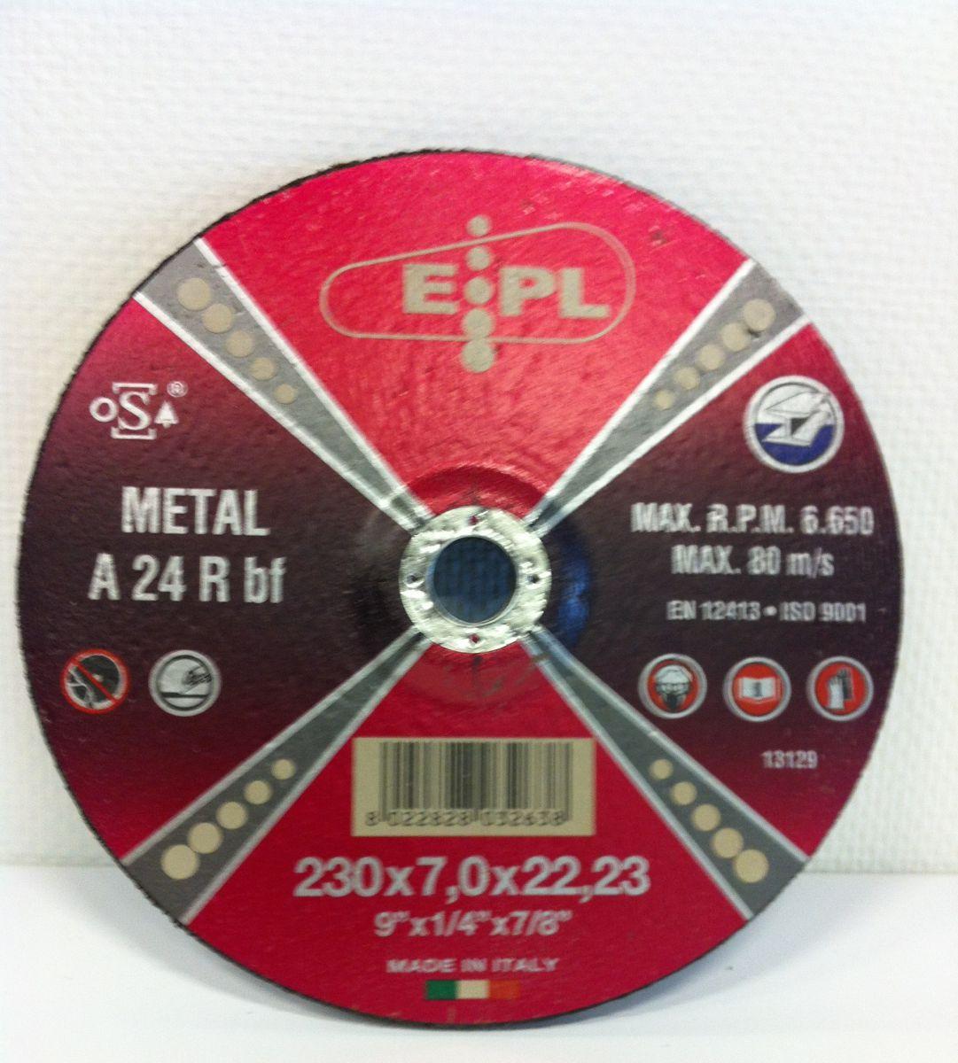 epl afbraamschijf 230x7mm metaalinox