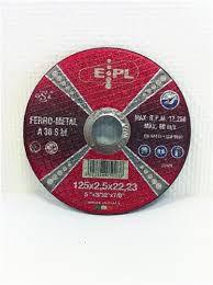EPL Doorlsijpschijf 125 mmx2.5mm metaal EPL125x2,5