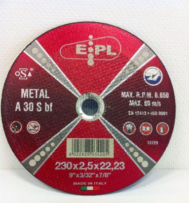 EPL Doorslijpschijf 230x2.5mm metaal/inox EPL230X2,5
