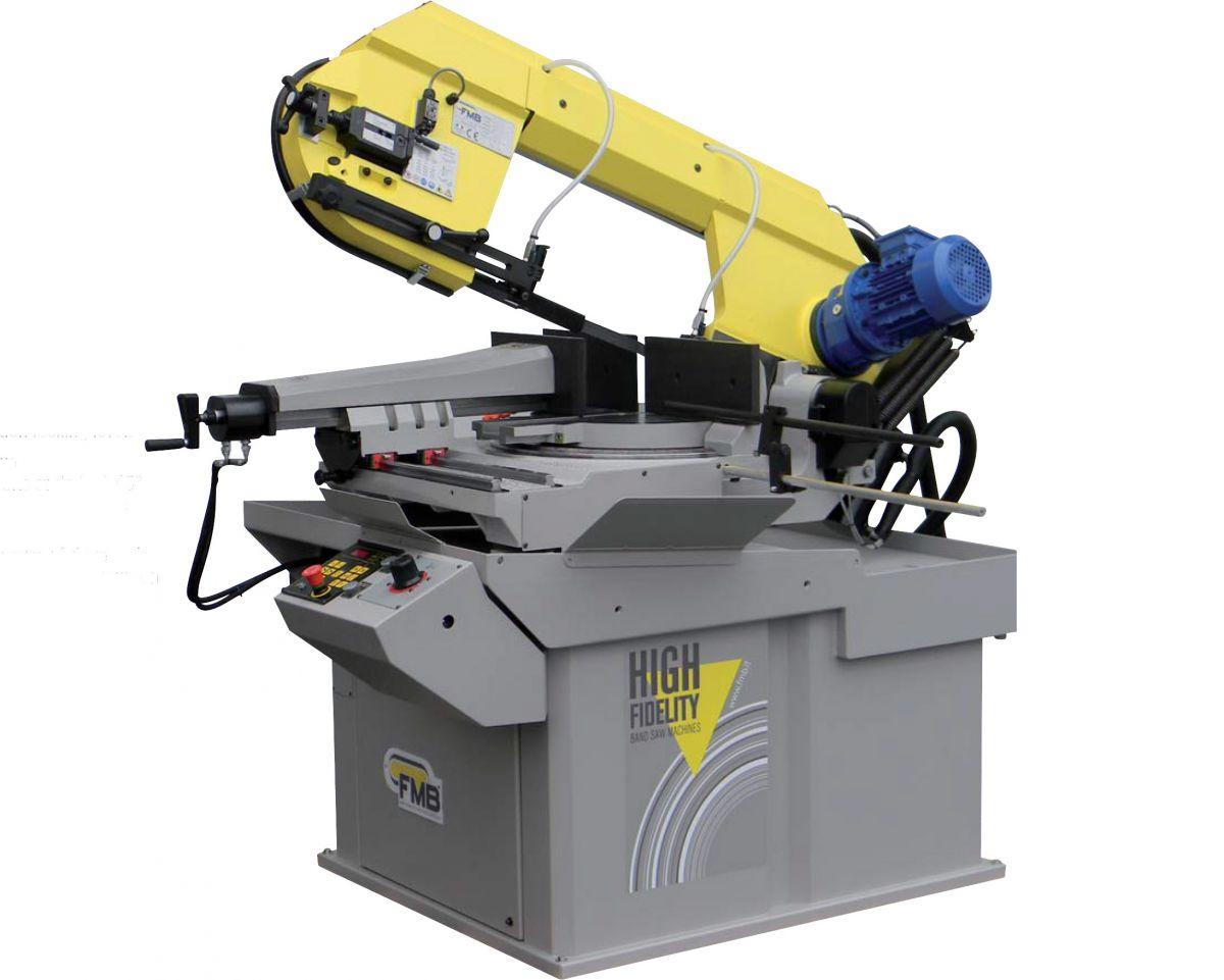 fmb saturnvhz half automatische lintzaagmachine digitale hoekaflezing