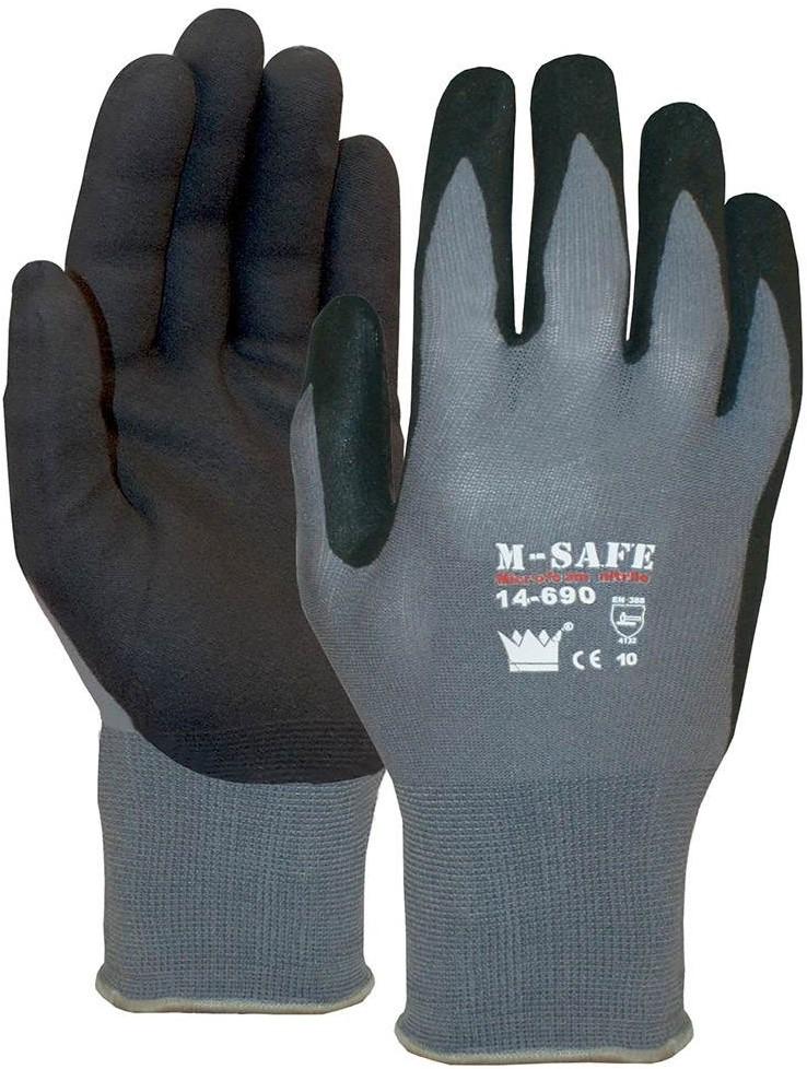 handschoen msafe nitrile foam zwart 14690 maat 11