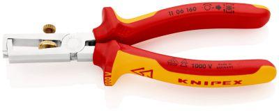 KNIPEX Afstriptang + veer comfort 160 mm VDE 1106160