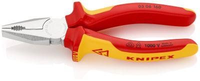KNIPEX Kombi-tang verchr./comfort VDE 160 mm 0306160