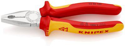 KNIPEX Kombi-tang verchr./comfort VDE 180 mm 0306180