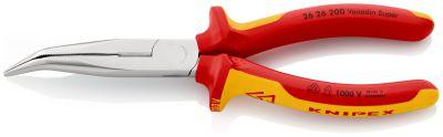 KNIPEX Telefoontang 45gr. + zijsn. 200 mm VDE 2626200
