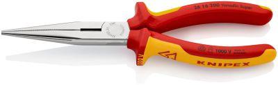KNIPEX Telefoontang recht + zijsn. 200 mm VDE 2616200