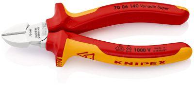 KNIPEX Zijsnijtang verchr./comfort 140 mm VDE 7006140