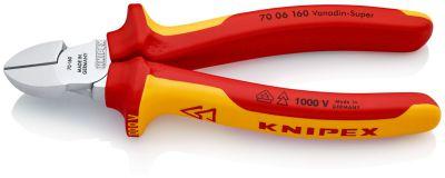 KNIPEX Zijsnijtang verchr./comfort 160 mm VDE 7006160