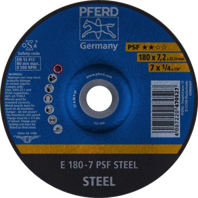 PFERD AFBRAAMSCHIJF E 180-7 PSF STEELOX 62017640