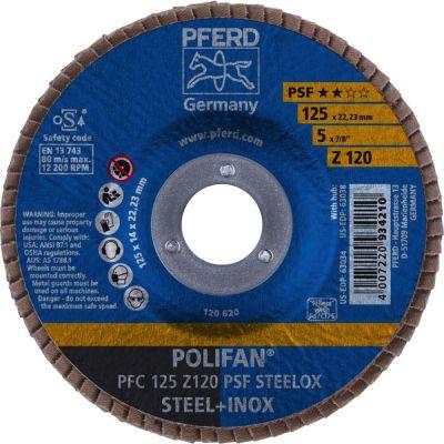 PFERD LAMELLENSCHIJF POLIFAN PFC 125 Z120 PSF STEELOX 67769125