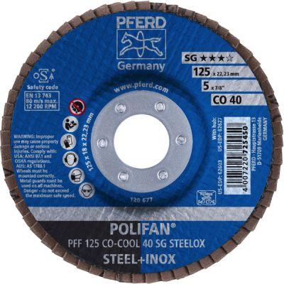 PFERD POLIFAN PFF 125 CO-COOL 40 SG STEELOX 67660425