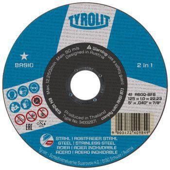 Tyrolit Basic* Doorslijpschijf voor haakse slijpers 41 125x2,5x22,23 A30Q-BF 222998