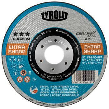 Tyrolit Premium*** Afbraamschijf voor haakse slijpers 27 125x7,0x22,23 CA24Q-BFP CERABOND-X 34387126