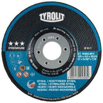 Tyrolit Premium*** Afbraamschijf voor haakse slijpers 27 125x7,0x22,23 A24Q-BFX 34046131