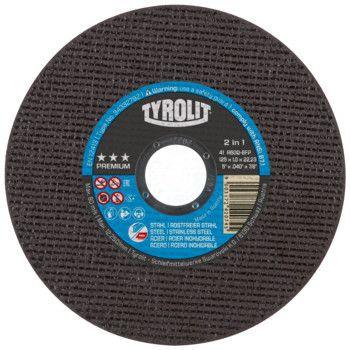 Tyrolit Premium*** Doorslijpschijf voor haakse slijpers 41 125x1,0x22,23 A60Q-BFP 34332792