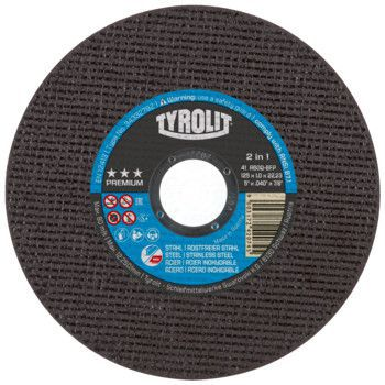 Tyrolit Premium*** Doorslijpschijf voor haakse slijpers 41 178x1,6x22,23 A46Q-BFP 34332797