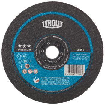 Tyrolit Premium*** Doorslijpschijf voor haakse slijpers 41 178x2,5x22,23 A30Q-BFXA 872341