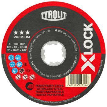 Tyrolit Premium*** Doorslijpschijf voor haakse slijpers 41F 125x1x22,23/XL A60R-BFP X-LOCK 34411625