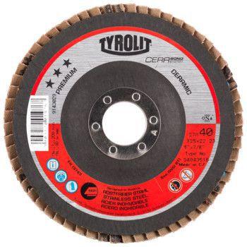 Tyrolit Premium*** Lamellerschijf voor haakse slijpers 27A 125x22,23 CA40-B 34043516