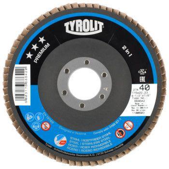 Tyrolit Premium*** Lamellerschijf voor haakse slijpers 28A 125x22,23 ZA120-B 645145
