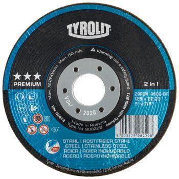 Tyrolit Premium*** Rondeller voor haakse slijpers 29RON 125x22,23 A36Q-BF 908227
