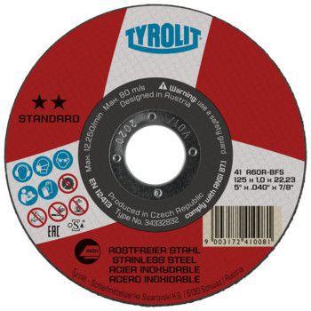 Tyrolit Standard** Doorslijpschijf voor haakse slijpers 41 125x1,0x22,23 A60R-BFS 34332832