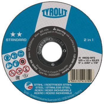 Tyrolit Standard** Doorslijpschijf voor haakse slijpers 41 125x1,0x22,23 A60Q-BFS 34332860