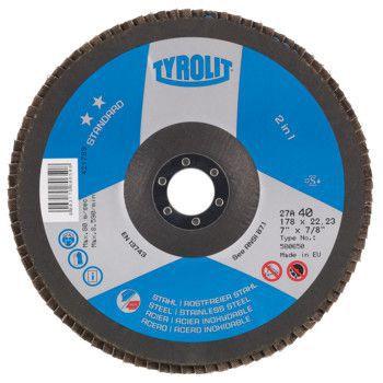 Tyrolit Standard** Lamellerschijf voor haakse slijpers 27A 125x22,23 ZA40-B 824385