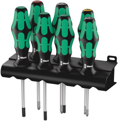 Wera 335/350/367/7 Schroevendraaiserset Kraftform Plus Lasertip + houder, 7-delig 05320540001