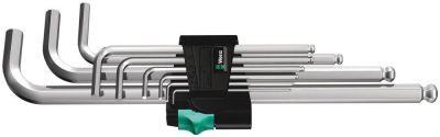 Wera 950/9 Hex-Plus 1 Stiftsleutelset, metrisch, verchroomd, 9-delig 05022087001