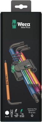 Wera 950/9 Hex-Plus Multicolour 1 ZB Multicolour Stiftsleutelset, metrisch, BlackLaser, 9-delig 05073593001