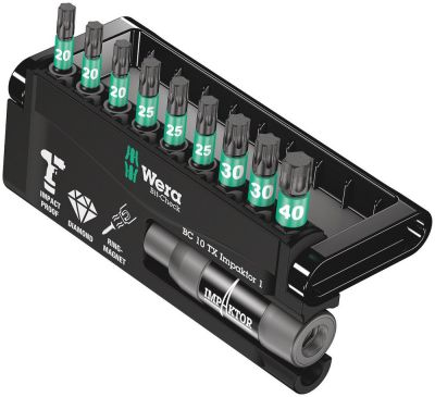Wera Bit-Check 10 TX Impaktor 1, 10-delig 05057688001