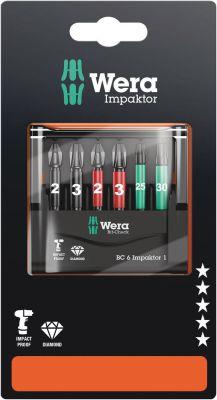 Wera Bit-Check 6 Impaktor 1 ZB, 6-delig 05073890001