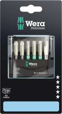 Wera Bit-Check 6 Stainless 1 ZB, 6-delig 05073634001