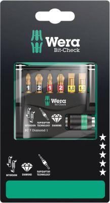 Wera Bit-Check 7 Diamond 1 ZB, 7-delig 05073419001
