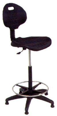 Werkstoel TP25 zwart 58-85 cm - incl. wielen 14409